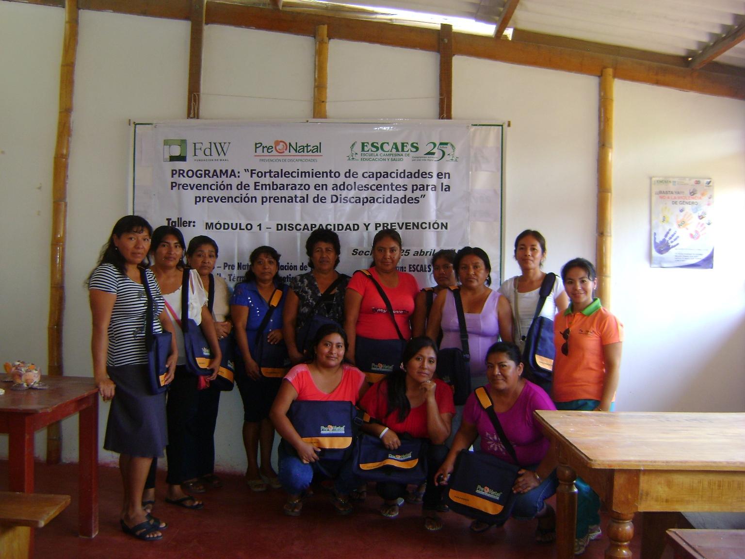 ESCAES y Fundación De Waal en alianza para la Prevención Prenatal de Discapacidades en la provincia de Sechura