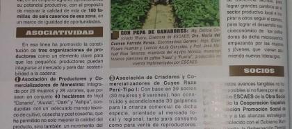 ESCAES PROMUEVE CADENAS PRODUCTIVAS EN CAJAMARCA